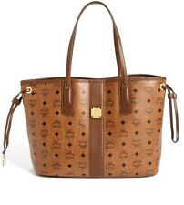 MCM Medium Liz Reversible Cognac Shopper Tote $590