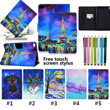 """Painted Magnetic Leather Flip Wallet Stand Case For iPad Air1 2 9.7"""" 2017/2018"""