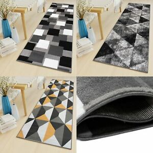 Long Narrow Hallway Hall Runner Rugs Geometric Shapes Non-Shed Living Room Mat