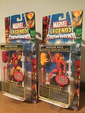 MOC Marvel Legends Showdown Human Torch And Iron Man Booster Packs Toy Biz 2005