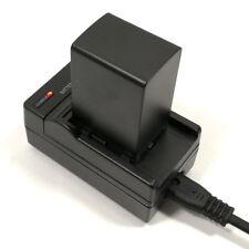 Mains Charger +2670mAh Battery for Canon BP-828 HF G40 G30 HG20 HG21  XA20 XA25