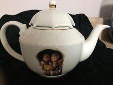 "M.J. Hummel Porcelain Tea Set ""Stormy Weather"" Umbrella Boy Girl - Tea Pot only"