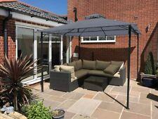 More details for garden gazebo grey party shelter malaga patio shade outdoor sun canopy 3m x 3m