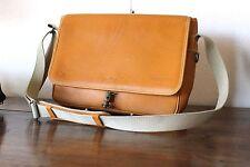 "RAWLINGS San Diego 14"" Dutch Tan Baseball Leather Messenger Laptop Briefcase Bag"