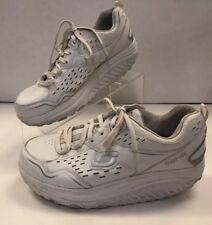 Skechers Womens Size 8 Shape-Ups White Walking Shoes SN 57001 Memory Foam Toning
