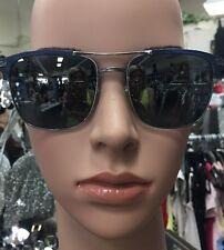 Barton Perreira Sunglasses Blue Frame Gray Polarized  Mirror Titanium Frame