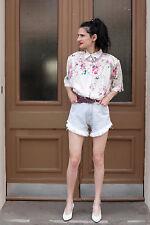 Jeans Damen kurze Hose short pants blau Fransen 90er True VINTAGE 90s women
