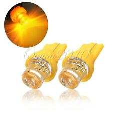 2x Car T10 158 194 168 501 W5W Car Light Bulb LED Lamp Amber Yellow Bright 12V
