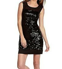 NEW MAX AND CLEO BLACK SEGUIN COCKTAIL MYJ6O855 DRESS SIZE 6