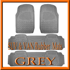 Fits  4 PCS  NISSAN  QUEST  HEAVY  DUTY  GRAY  RUBBER FLOOR MATS  /  FULL SET