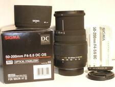 Excellent+ Sigma 50-200mm F4-5.6 DC (IF) HSM Optical Stabilizer Nikon AF-S Mount