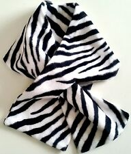 ZEBRA FAUX FUR Loop-Through Scarf/Collar Double-Sided NEW!
