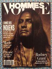 VOGUE HOMMES 144 Nov 1991 Rodney Grant Indiens Mode