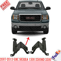 Front Bumper Outer Brackets Set Steel For 2007-2013 GMC Sierra 1500 2500HD 3500