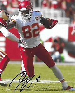 Dwayne Bowe signed autographed Kansas City Chiefs football 8x10 photo COA. proof