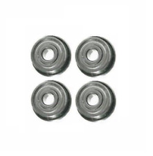 """Four Flanged Ball Bearings 1/2"""" ID x 1-1/8"""" OD x 3/8"""" Thick / Acor"""