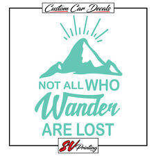 Not All Who Wander Are Lost Car Decal Sticker Outdoors Explore America Camping
