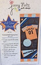 JENNY FOLTZ QUILT DESIGN #JF113-ALL STAR VOLLEYBALL WALL HANGING PATTERN