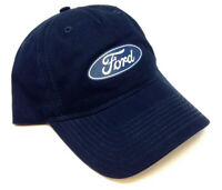 NAVY BLUE FORD CLASSIC OVAL SCRIPT LOGO ADJUSTABLE CURVED BILL HAT CAP RETRO NWT