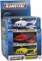 Teamsterz Emergency Response Helicopter & Car Police Fire Engine Rescue Popular