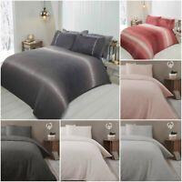 Teddy Bear Fleece Duvet Cover Set Sherpa Thermal Warm Soft Bedding & Pillowcases