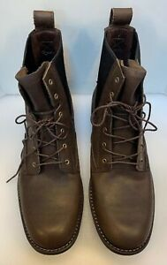 Timberland Earthkeepers Men 12 M Chelsea Boots Lace Up Dark Brown Leather 5927R