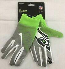 NWT Nike Seattle Seahawks Mens Stadium Gloves XL Dark Grey Action Green MSRP$35