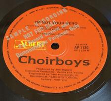 "Choirboys – Talk Big 1983 Australia  Vinyl 7"", 45 RPM, PROMO Albert – AP-1120"