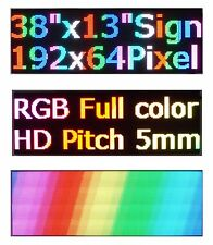 "38""x 12"" RGB Full Color P5 LED Sign Programmable Scrolling Message Display"
