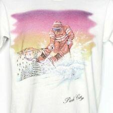 Park City Utah Ski T Shirt Vintage 80s 90s Downhill Skiing Made In Usa Large