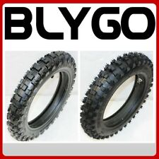 """2.50-10"""" Fron t+ 3.00-10"""" Inch Rear Back Knobby Tyre Tire + Tube PIT Dirt Bike"""