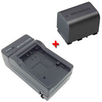 Battery&Charger for JVC Everio GZ-MS230 GZ-MS230AU GZ-MS230BU MS230RU Camcorder