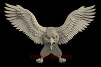 3D STL Model for CNC Router Carving Artcam Aspire USA America Eagle IS609