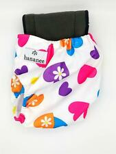 Hananee Baby Cloth Diapers with Bamboo Charcoal Insert All-In-One Nappy Heart