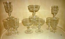 12 verres Baccarat en cristal décor fin gravé XIX ème Champagne liqueur porto