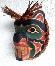AUTHENTIC INDIGENOUS NORTHWEST COAST NATIVE INDIAN ART BEAVER MASK 1st NATIONS