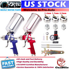 Hvlp Auto Paint Air Spray Gun Kit Gravity Feed Car Primer 1.4Mm 1.7 2.5Mm Nozzle