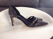 Zara Blink Studed Black Stilettos Size 39