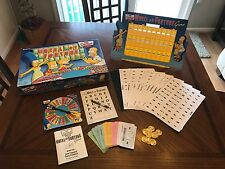 2004 Pressman The Simpsons Deluxe Wheel of Fortune Game 100% COMPLETE