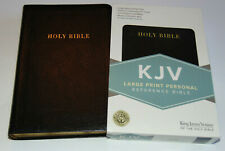 KJV Holy Bible, Large Print, Black Bonded Leather Cover, King James Version