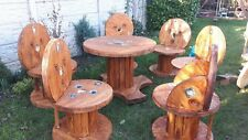 Wooden Garden Table and 6 Chairs Dining Set - Outdoor Patio Solid Wood
