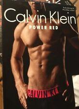 * CALVIN KLEIN XL(40-42) POWER Red - MICROFIBER Low Rise Trunk - White U8316-100