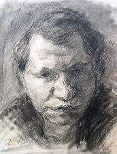 Arnold Hilmer 1908-1993 Hambourg/dessin/portrait d'un homme/de 1930