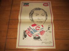1972 Sport Images Vintage Poster of YVAN COURNOYER Montreal Canadiens Caricature