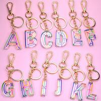 Alphabet Keyring A-Z Initials Letter Key Ring Colorful Key Chain Bag Pendant