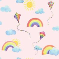 OVER THE RAINBOW FLYING KITES WALLPAPER PINK / MULTI HOLDEN 91021