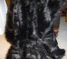 Black Faux Fox Fur Throw Fake Fox Fur Queen Size Bedspread Faux Fur Blanket