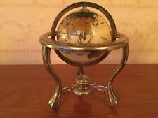 Mother Of Pearl Semi Precious Gemstone Globe Of The World With Compass