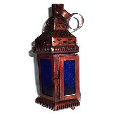 Set di 8-VETRO BLU STILE Marocchina da Appendere LANTERNA, candle holder