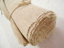 """Vtg Antique Hemp Linen European French upholstery Bolt Grain Bag fabric 9 Yd 19"""""""